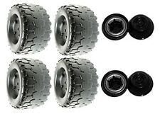 Power Wheels W4473 Barbie Jammin' Jeep Wrangler Replacement Wheel- 4 Pack
