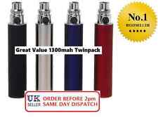 1300 mah Electronic e Shisha Hookah Vape Battery Twin Kit