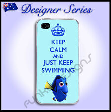Designer Apple iPhone 4 / 4S hard case Keep Calm Just Keep Swimming Dory 44
