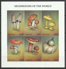 Ghana Flora Poisonous Mushrooms Toadstools Toxic Fungi Imperforated S/S ** 1997