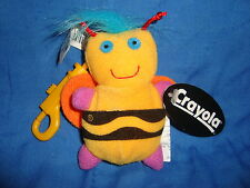 "Crayola Linda Lee Bee Plush Hallmark Keychain Back Pack Clip 4"" tall"