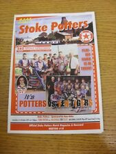 01/10/2011 Speedway Programme: National League Play-Off Semi-Final - Stoke Potte