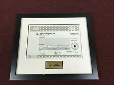 RARE Vintage Apple Computer, Inc SAMPLE Stock Certificate Steve Jobs