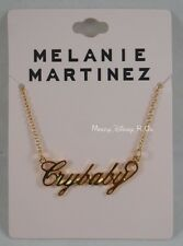 New Melanie Martinez Cry Baby Nameplate Statement Pendant Necklace