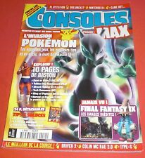 Consoles MAX [Magazine n°11 Mai 2000] Playstation Dreamcast Game Boy Pokémon JRF