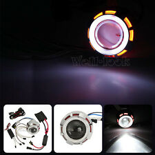 HID Bi-Xenon Projector Motor Bike Headlight Angel Eye For Suzuki Sport Kawasaki
