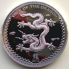 "Palau 2012 Year of Dragon ""Land"" 5 Dollars Silver Coin,Proof"