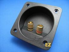 2x Speaker TERMINAL Plate With 4x Gold Binding Post Banana Plug Connector R165B