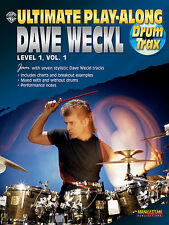 Dave Weckl Ultimate Playalong Learn to Play Drums Lesson Music Book 1 & CD
