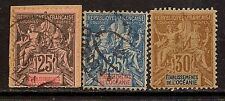 FRENCH POLYNESIA 1892-00 PEACE AND COMMERCE SC # 11-13 USED MLH