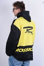 Rossignol Mens L Light Jacket Waterproof Hood Snowboard Stripes Vintage Ski
