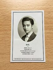 EXO EXO-K D.O Kyungsoo 1st album XOXO Growl ID photocard