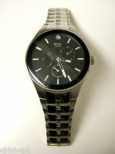 (M) RELIC SILVER BLACK DIAL MULTI-FUNCTION WATCH ZR15519 PRE-OWNED WORKING BATT