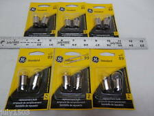 (12) GE 89 Miniature Lamp Bulb 8w Single Contact 12 volt G6 12v Free Ship!!