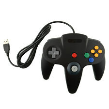 Hot USB Game Wired Controller Joypad Gaming For Nintendo N64 PC Mac Black