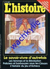 L'histoire n°71 - 10/1984 jeu d'échecs savoir-vivre d'autrefois