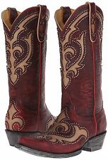 New in Box Old Gringo Kailani Stud Womens Red Leather Cowboy Boots 8 M