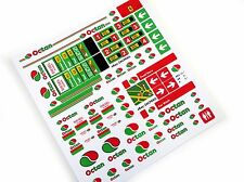 OCTAN GASOLINE PETROL STATION STICKERS for LEGO 1253 1255 1256 ,CUSTOM BUILD ETC