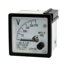 1Pcs AC 0-250V Tuning Dial Panel Analog Voltage Meter Voltmeter  99T1-V