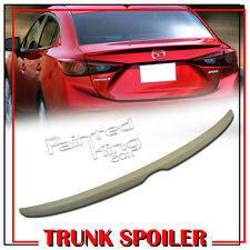 Unpainted OE-Type Rear Trunk Spoiler Wing For 2014~2016 Mazda 3 Axela Sedan