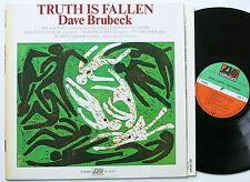 DAVE BRUBECK TRUTH IS FALLEN ORIG ATLANTIC LP 1972 MINT-