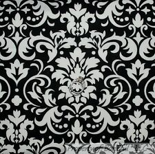 BonEful FABRIC FQ Cotton Quilt Black White B&W Polka Dot Victorian Damask Flower