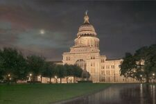 Texas Capitol by Rod Chase Lone Star State Patriotic 10x15 Hand Signed By Artist