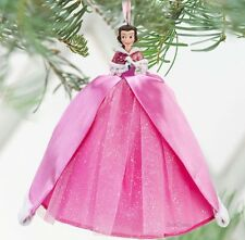 NEW 2010 Disney Store Beauty & Beast BELLE Winter Christmas Ornament Pink Dress