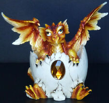 TOPAZ   Birthstone Dragon in Shell   NOVEMBER  Figure Statue H5.5""