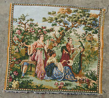 Vintage French Beautiful Chinese Women Scene Tapestry 50x48cm (A643)