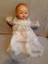 Vintage old Baby Doll Horseman Thumbelina 1972-plastic cloth-christening dress