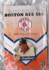 BOSTON RED SOX 2004 WORLD SERIES WINNER GLOBE PROMO PIN SERIES MANNY RAMIREZ