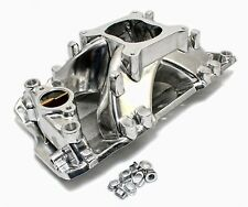 Small Block Chevy 350 400 Aluminum Hurricane Polished Intake High Rise SBC 55-95