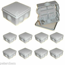 10 x 100mm square junction box waterproof cable connection CCTV enclosure IP56