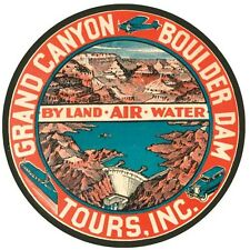 Grand Canyon Tours National Park    Vintage Looking Travel Decal  Label Sticker