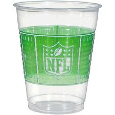 NFL Drive Football Party 16 oz. Clear Plastic Cups-25 count-NEW