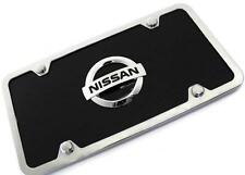 Nissan Logo ACRYLIC Front License Plate Novelty Black Gloss Authentic