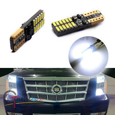 2PC CAN-bus T10 194 White LED 24-SMD Front Sidemarker For CADILLAC ESCALADE, etc