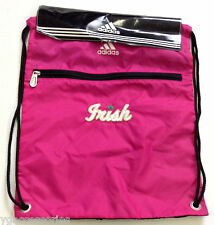 NWT NCAA Notre Dame Fighting Irish Adidas Sling Gym Bag Backpack Sack Bag NEW!!