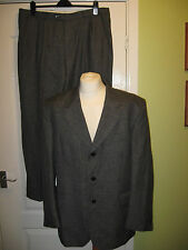 MENS SKOPES GREY TWO PIECE SUIT - JACKET 44 R TROUSERS W38 L29 WOOL MIX