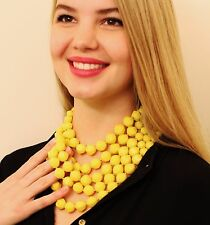 KATE SPADE CUT TO THE CHASE NECKLACE MULTI-STRAND BRIGHT HOT YELLOW SUNSHINE