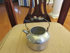 VINTAGE TOY DOLL TEA POT WOODEN HANDLE MISSING LID VERY OLD VERY RARE