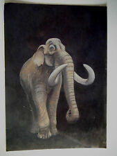 The West Runton Elephant Old Postcard Size Print