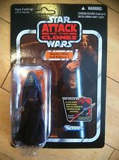 BARRISS OFFEE Star Wars AOTC The Vintage Collection #VC51 NOC Unpunched Mint!