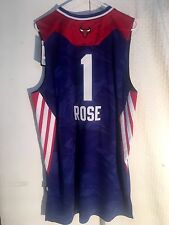 Adidas Swingman NBA Jersey CHICAGO Bulls Derrick Rose Blue All-Star sz XL