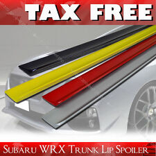 PAINTED FOR SUBARU WRX 4DR SEDAN SALOON STI REAR TRUNK LIP SPOILER WING PUF §