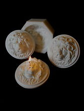 SILICONE RUBBER MOULD ROUND LIONS SOAP CANDLE HEAD FACE
