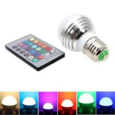 E27 3W 85-265V Magic RGB Colors Changing LED Light Bulb Remote Control Energy