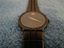 Movado Museum Sapphire Black Dress Watch Ladies (MINT) Women's