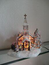 Weihnachtshaus Kirche Lichterhaus Winterlandschaft Dorfkirche Weihnachtsdeko LED